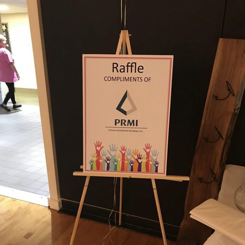 PRMI raffle at a Claire's Army event
