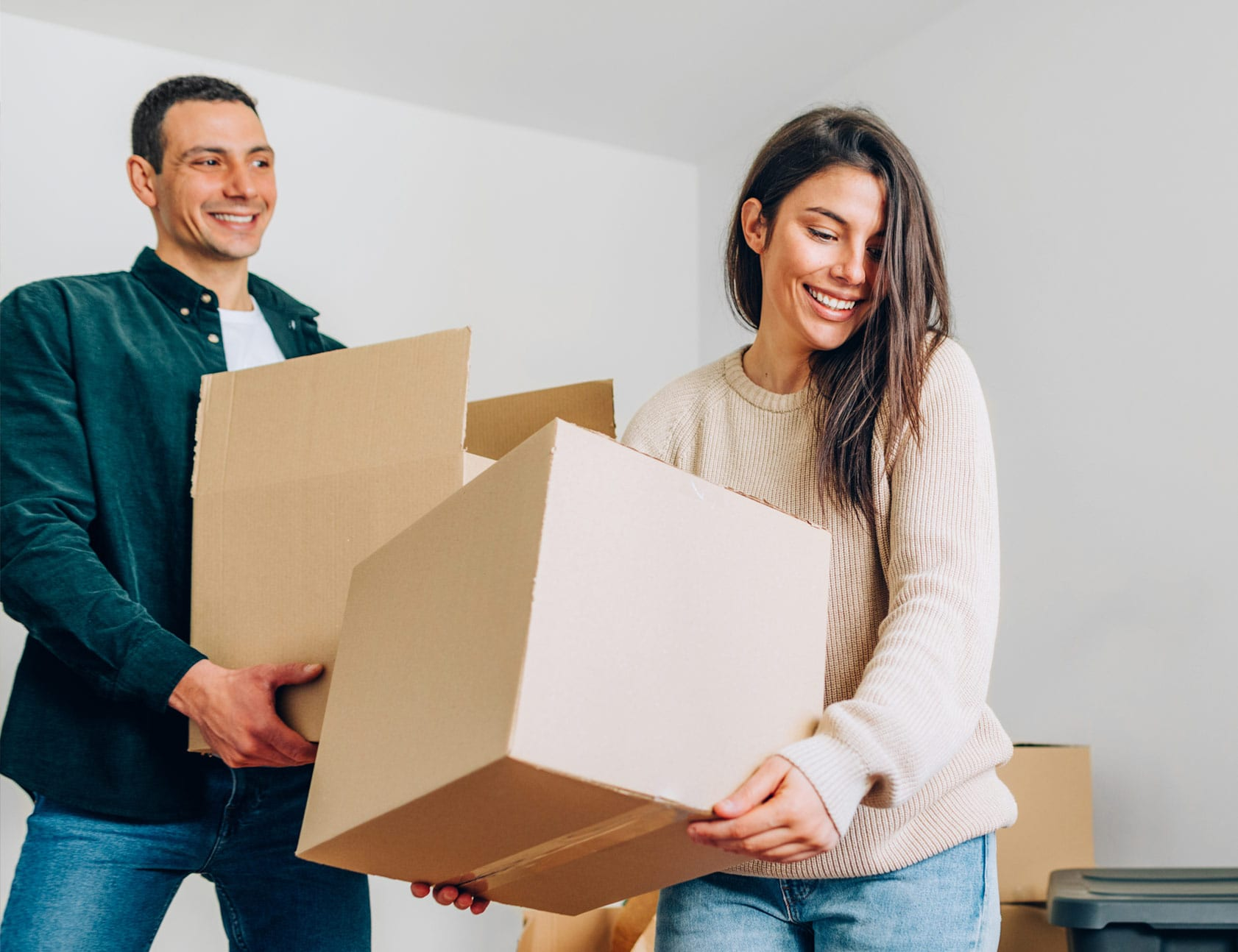 First-time buyers moving in