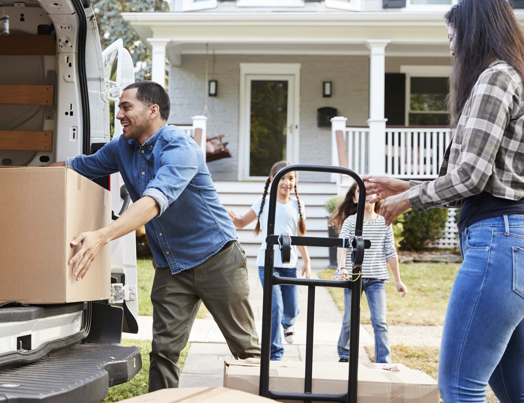 A self-employed homeowner on moving day