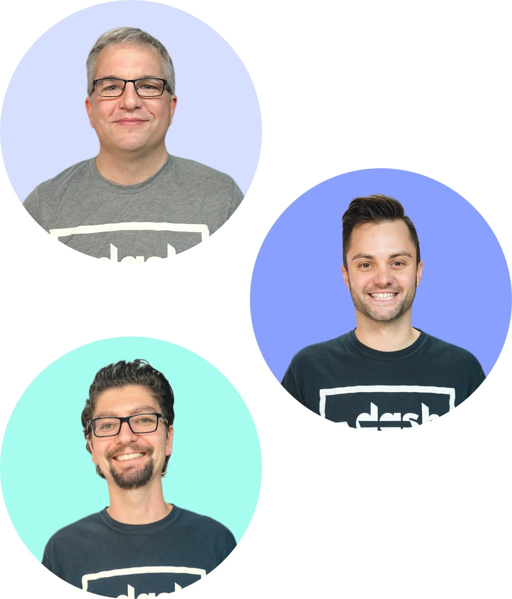 Our founders; Andy, Luke and Paul